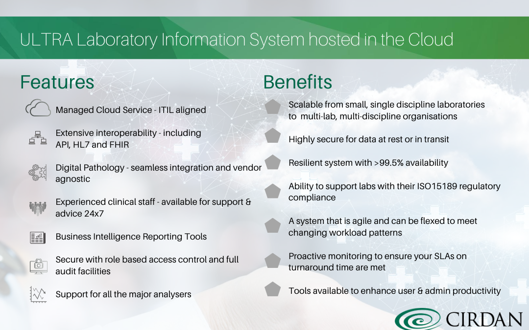 ULTRA Cloud: Laboratory Information System hosted in the Cloud